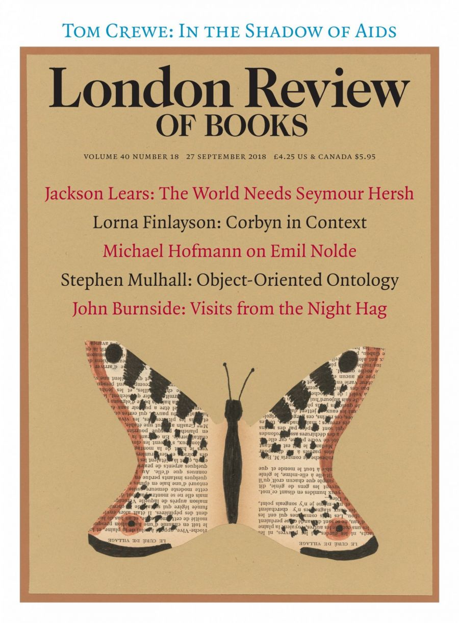LRB cover 09/27/2018 butterfly collage.